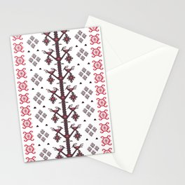 Tribal Ethnic Love Birds Kilim Rug Pattern Stationery Cards