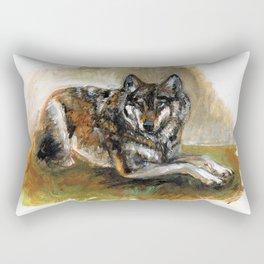 Carpathian wolf realistic (c) 2017 Rectangular Pillow