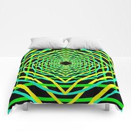 Diamonds in the Rounds Blacklight Neons Yellow Greens Comforters