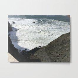 Angry Ocean of the Marin Headlands Metal Print