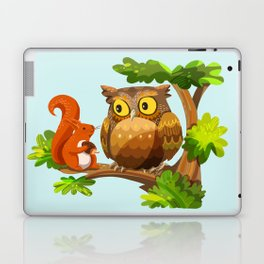 The Owl and The Squirrel Laptop & iPad Skin