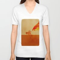 airbender V-neck T-shirts featuring Avatar Roku by daniel