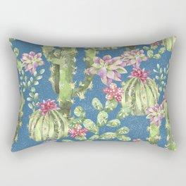Winter Cactus Rectangular Pillow