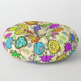 Doodle Germs Floor Pillow