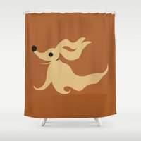 nightmare before christmas Shower Curtains featuring The Nightmare before Christmas by FilmsQuiz