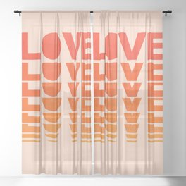 Abstraction_LOVE_SUNSET_Minimalism_001 Sheer Curtain