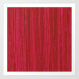 Strawberry Colored Vertical Stripes Art Print