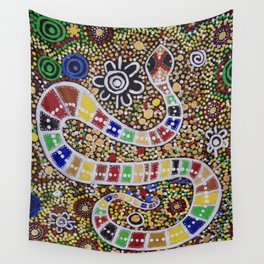 THE RAINBOW SERPENT Wall Tapestry