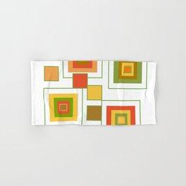 Retro Minimalist Square Design Hand & Bath Towel