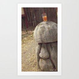 tall the alcoholic mushroom as company (1) #17 Art Print