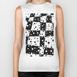 Holes In Black And White Biker Tank