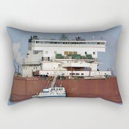Edgar B Speer Freighter and Ojibway Rectangular Pillow