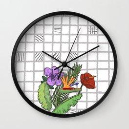 Flowers wall Wall Clock