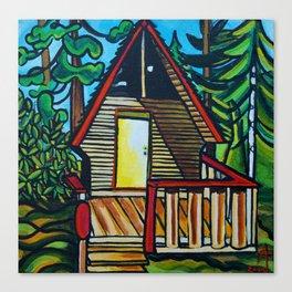Ruby Lake Cabin Canvas Print