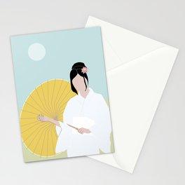 Wagasa and kimono Stationery Cards