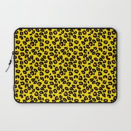 Lemon Yellow Leopard Spots Animal Print Pattern Laptop Sleeve