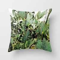 cacti Throw Pillows featuring Cacti by PoseManikin