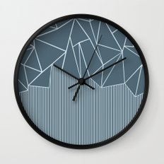 Ab Lines Blues Wall Clock