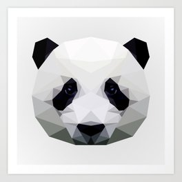 Polygon Panda | Abstract Triangle Art Work Art Print