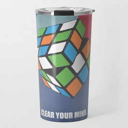 Lab No. 4 - Clear Your Mind Corporate Startup Quotes Travel Mug