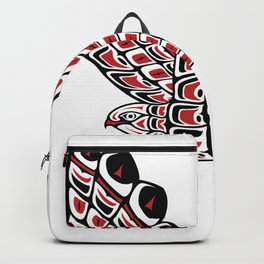 Red Tail Hawk Pacific Northwest Native American Style Art Backpack