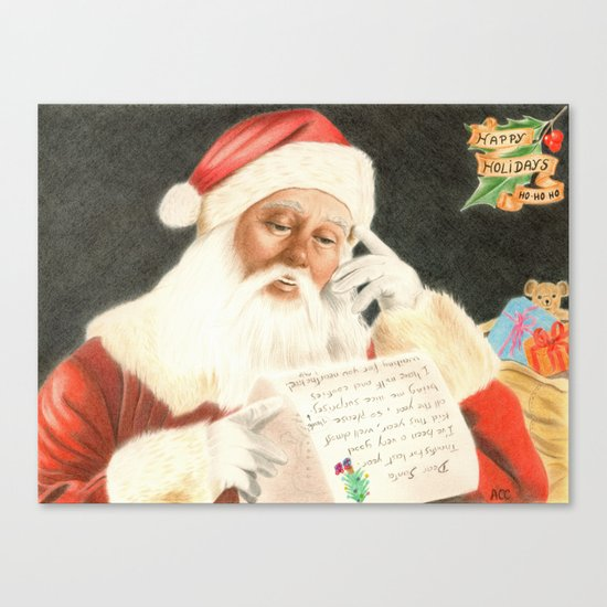 Letter to Santa Claus Canvas Print
