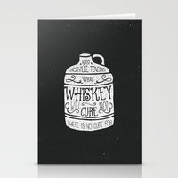 whiskey Stationery Cards featuring WHISKEY by magdam