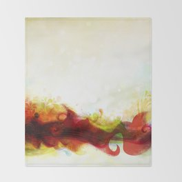 Abstract Splats by Friztin Throw Blanket