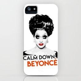 """Calm down Bey!"" Bianca Del Rio, RuPaul's Drag Race Queen iPhone Case"