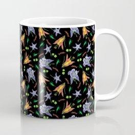 Columbine on Black Coffee Mug