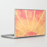 hemingway Laptop & iPad Skins featuring The Sun Also Rises (Peach Wash) by Tami Goemilar