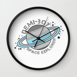 Demi-Boy Space Explorer Wall Clock