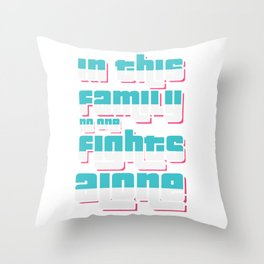 Family cohesion Love Throw Pillow