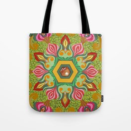Swirls of Flowers and Lace Tote Bag