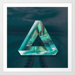 The Bermuda Triangle Art Print