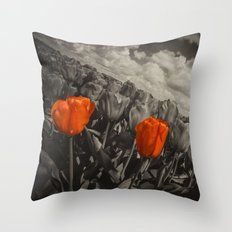 Tilted Red Throw Pillow