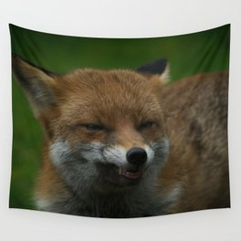 Wild Red Fox Showing Its Teeth Wall Tapestry