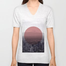 Fuji in the Distance - Remastered Unisex V-Neck