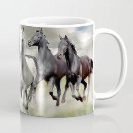 8 Horses Running Coffee Mug