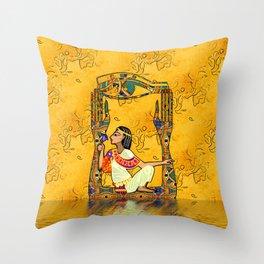 Egyptian Fusion Throw Pillow