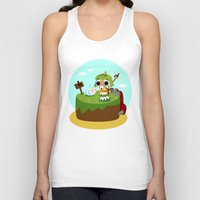 monster hunter Tank Tops featuring Monster Hunter - Felyne and Poogie by tcbunny