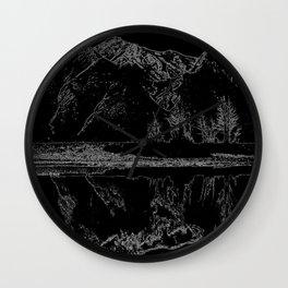 Knik River Mts. Pop Art - 4 Wall Clock