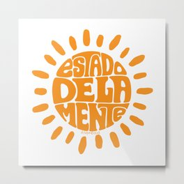 State of mind Orange Ochre Metal Print