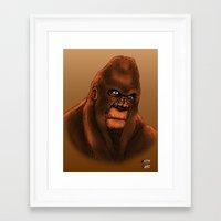 sasquatch Framed Art Prints featuring Sasquatch by Luke Kegley