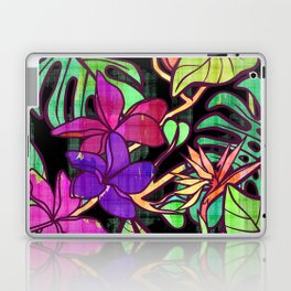 Tropical leaves and flowers, jungle print Laptop & iPad Skin