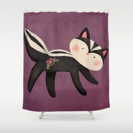 Skunky Shower Curtain