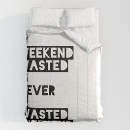 A Weekend Water (Black) Comforters