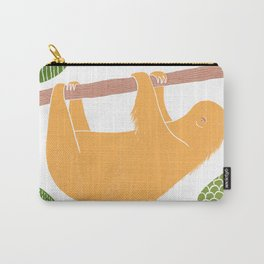 Sleepy Happy Sloth Carry-All Pouch