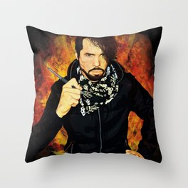 The 21st century Punk Rock Expressionist Throw Pillow
