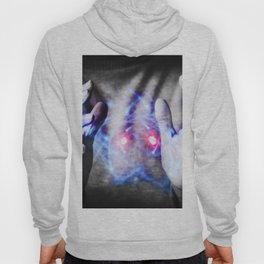Woman's hands controlling atomic power Hoody